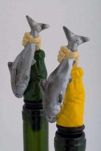 Fish in Hand bottle stopper