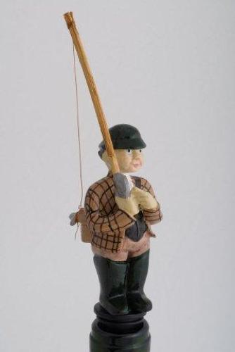 Fly Fisherman bottle stopper