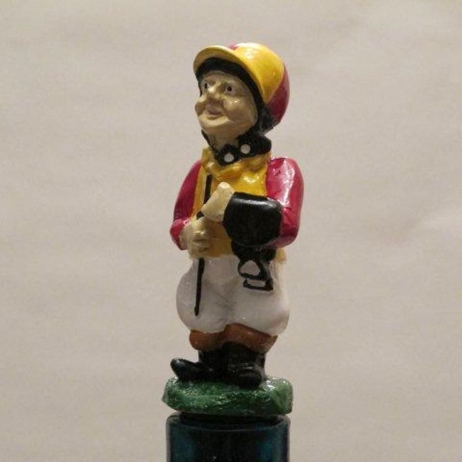Racing Colours jockey bottle stopper