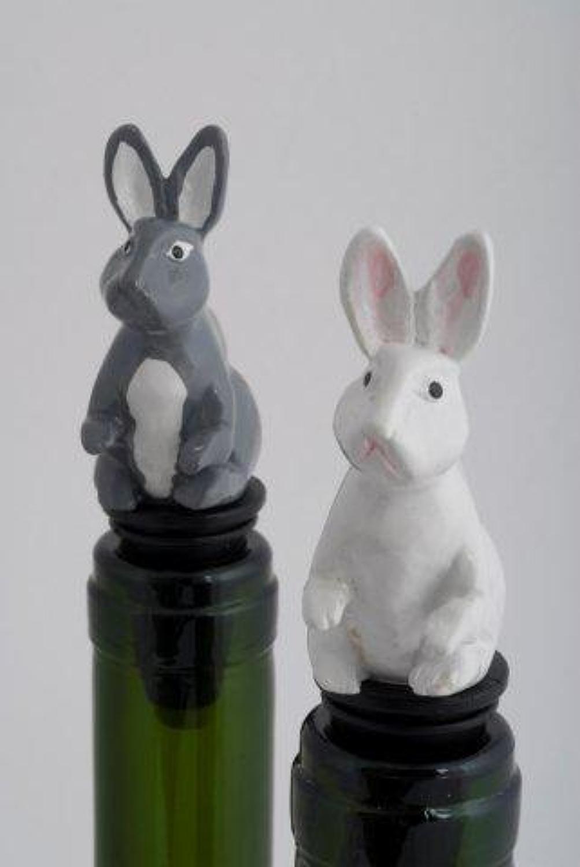 Rabbit bottle stopper