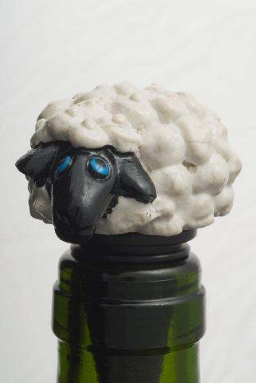 Black Face Sheep bottle stopper