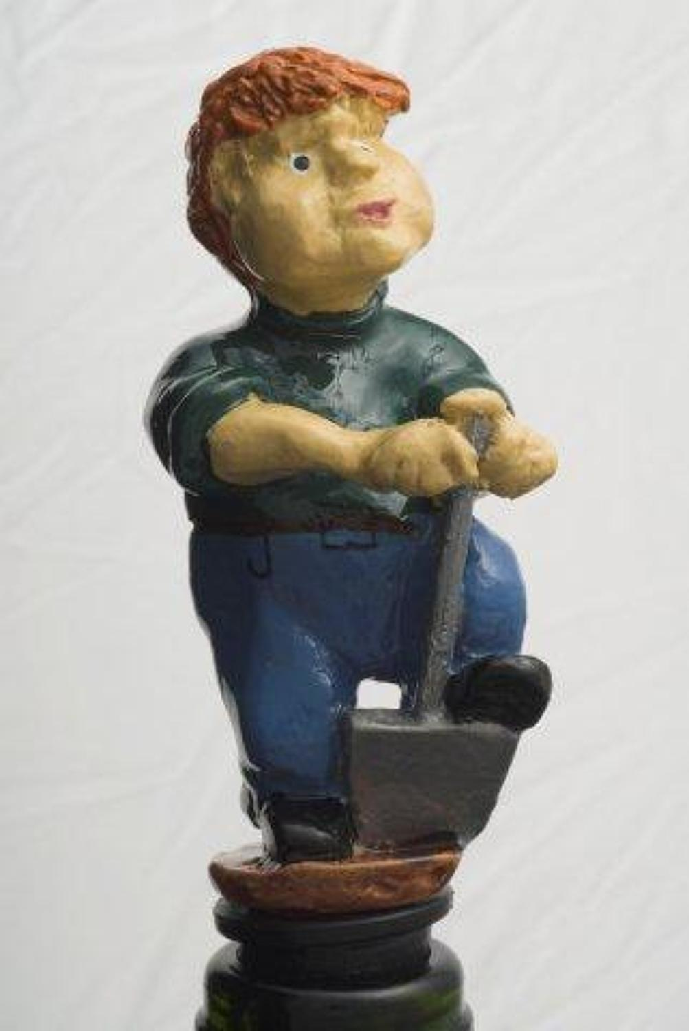 Digger - gardener bottle stopper