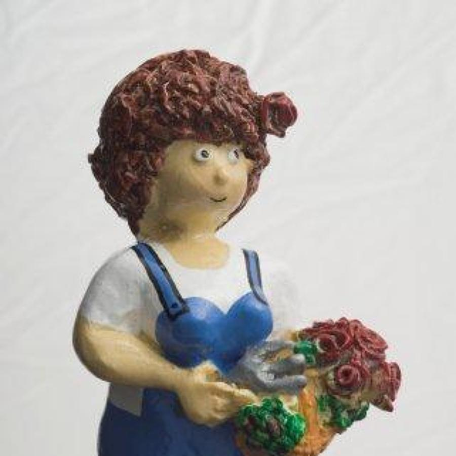 Rosie - gardener bottle stopper