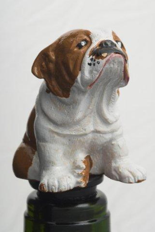 Bulldog bottle stopper