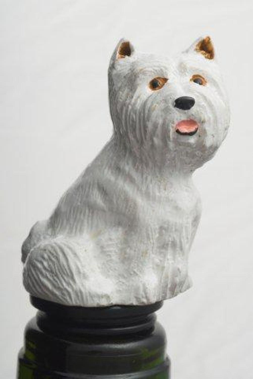 Westie bottle stopper