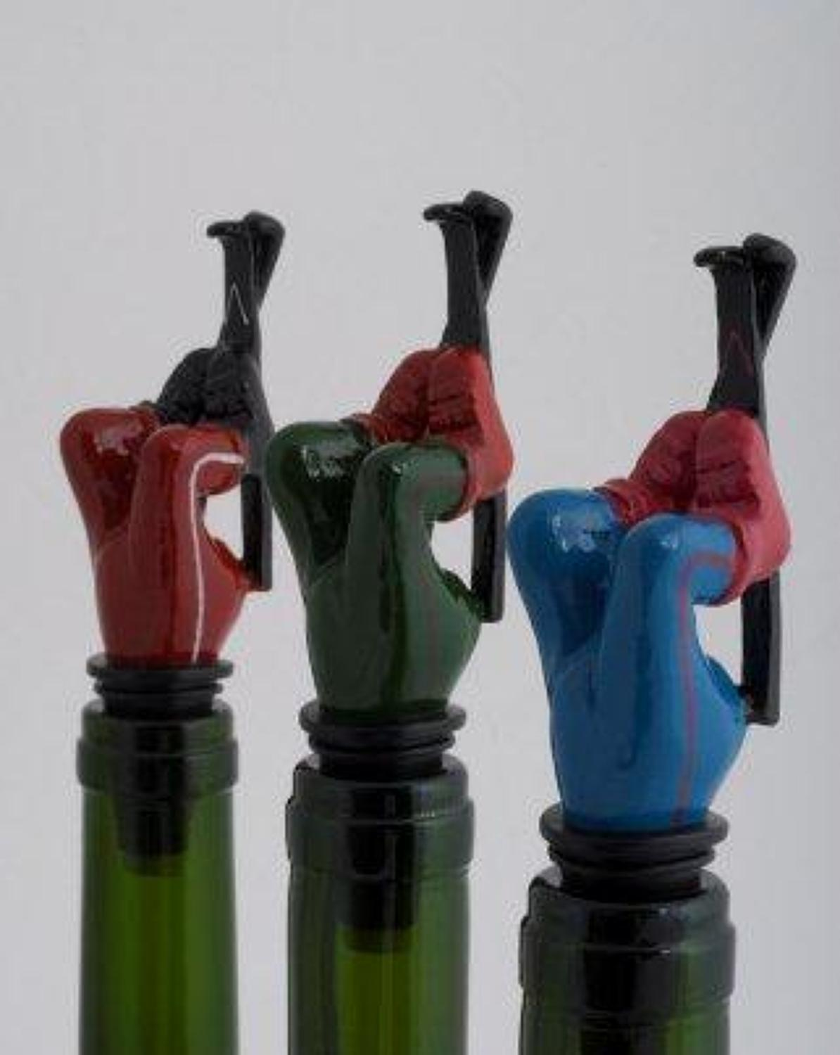 Skier bottle stopper