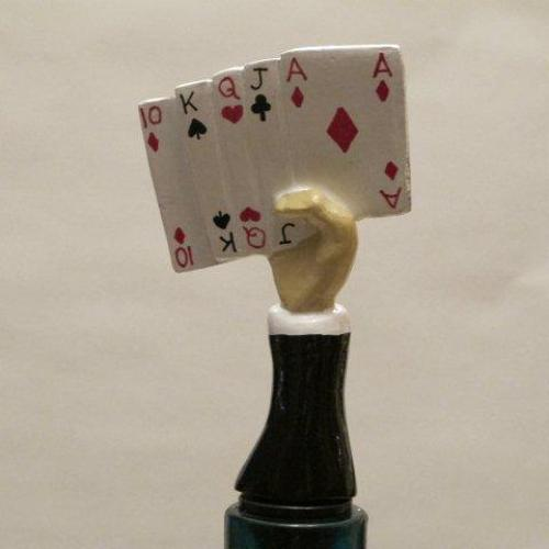 Hand of Cards bottle stopper