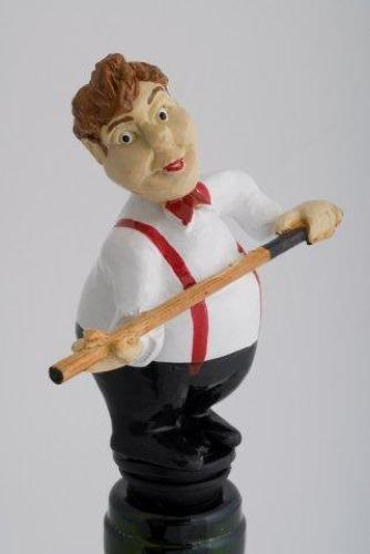Snooker Player bottle stopper