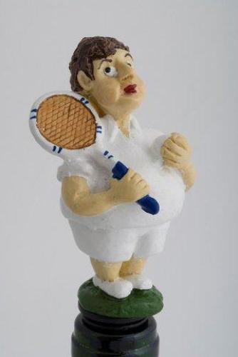 Boy Tennis Player bottle stopper