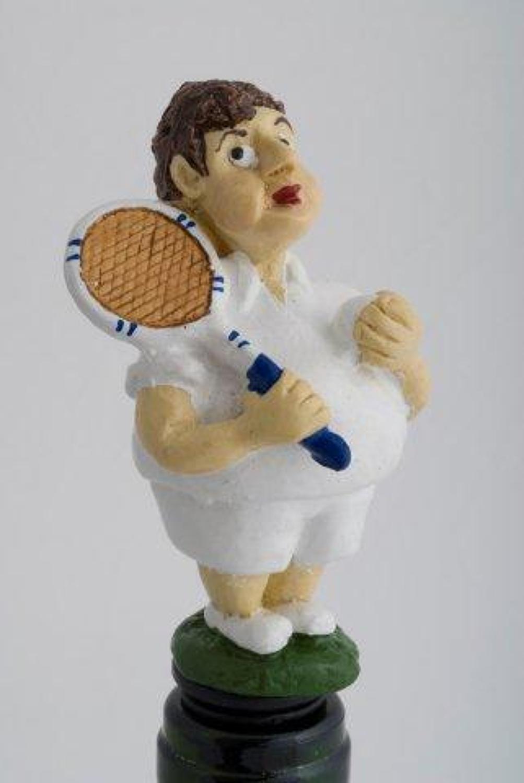 Boy Tennis Player bottle stopper