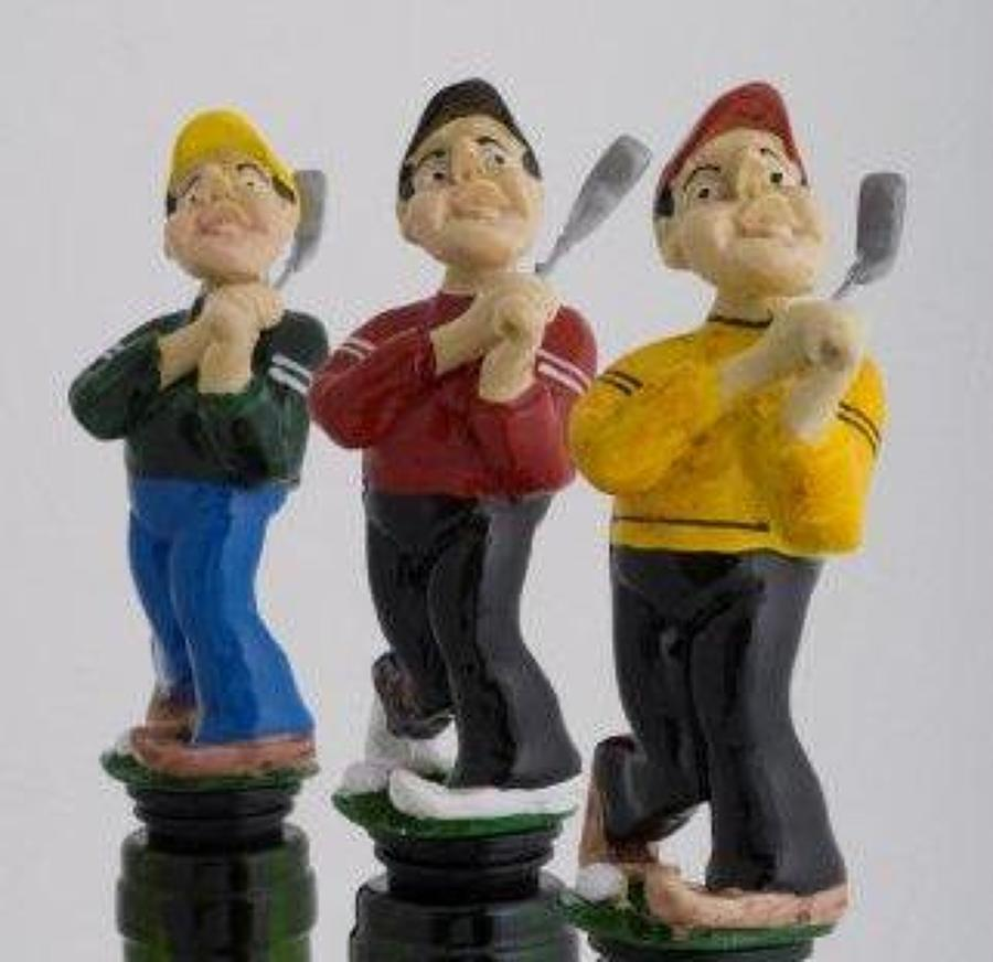 Fore! golfer bottle stopper