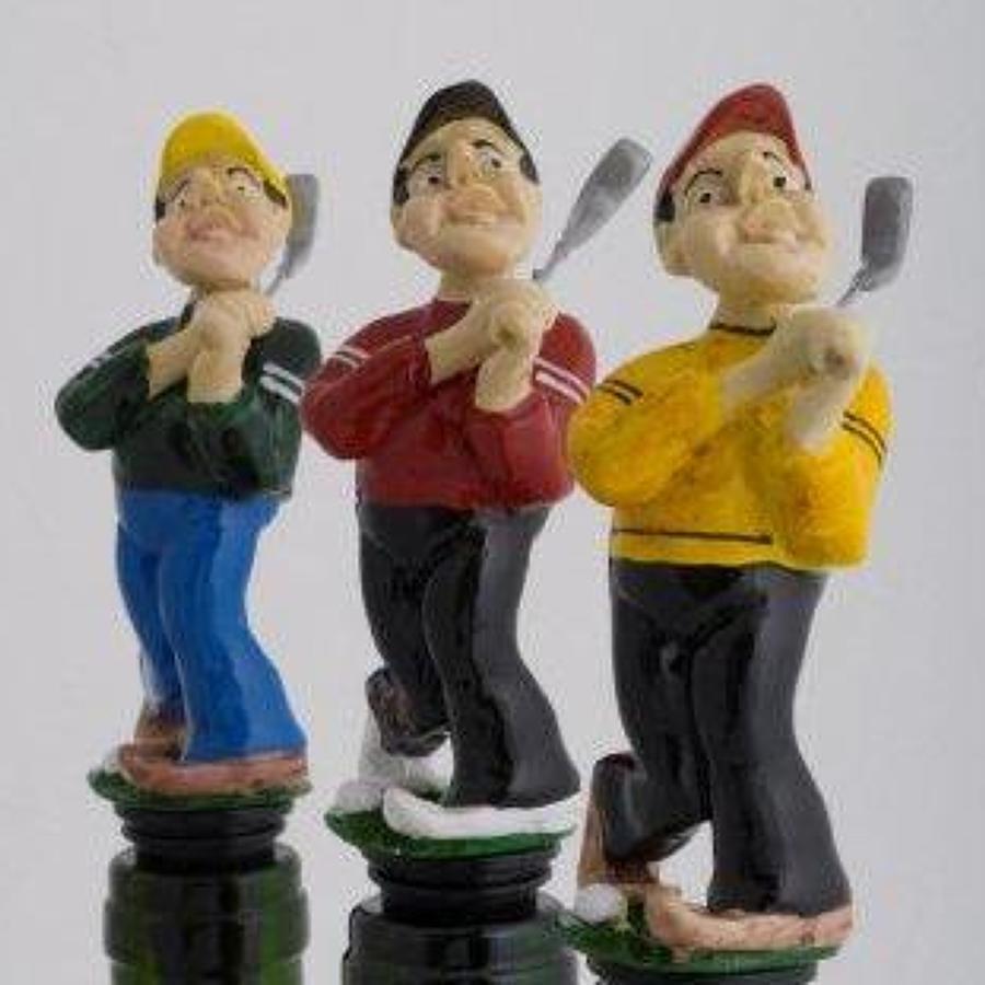 Fore! golfer bottle stopper