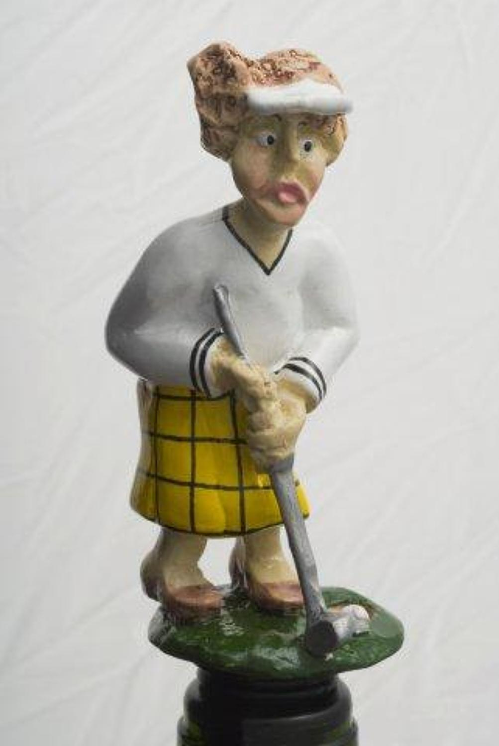 Lady Captain golfing bottle stopper