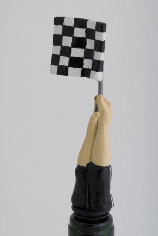 Checkered Flag bottle stopper
