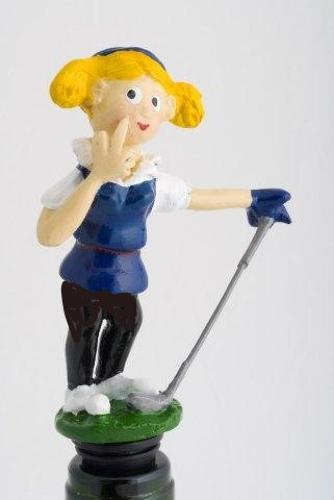 Golfing Girl bottle stopper