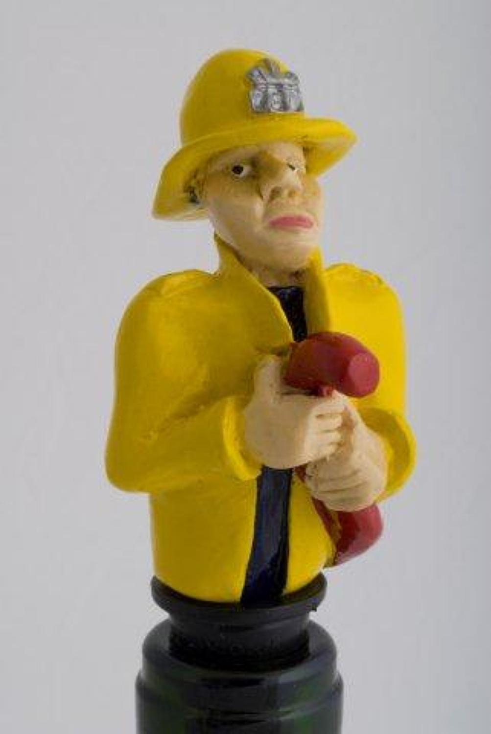Firefighter bottle stopper