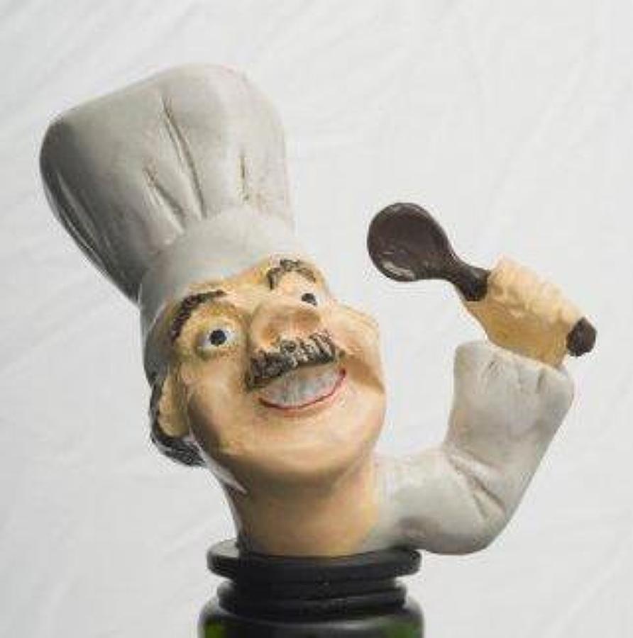 Chef bottle stopper