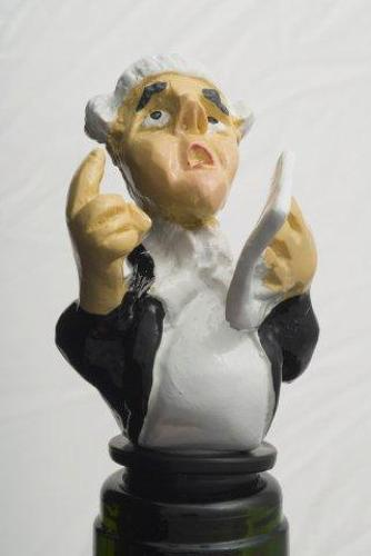 Lawyer bottle stopper