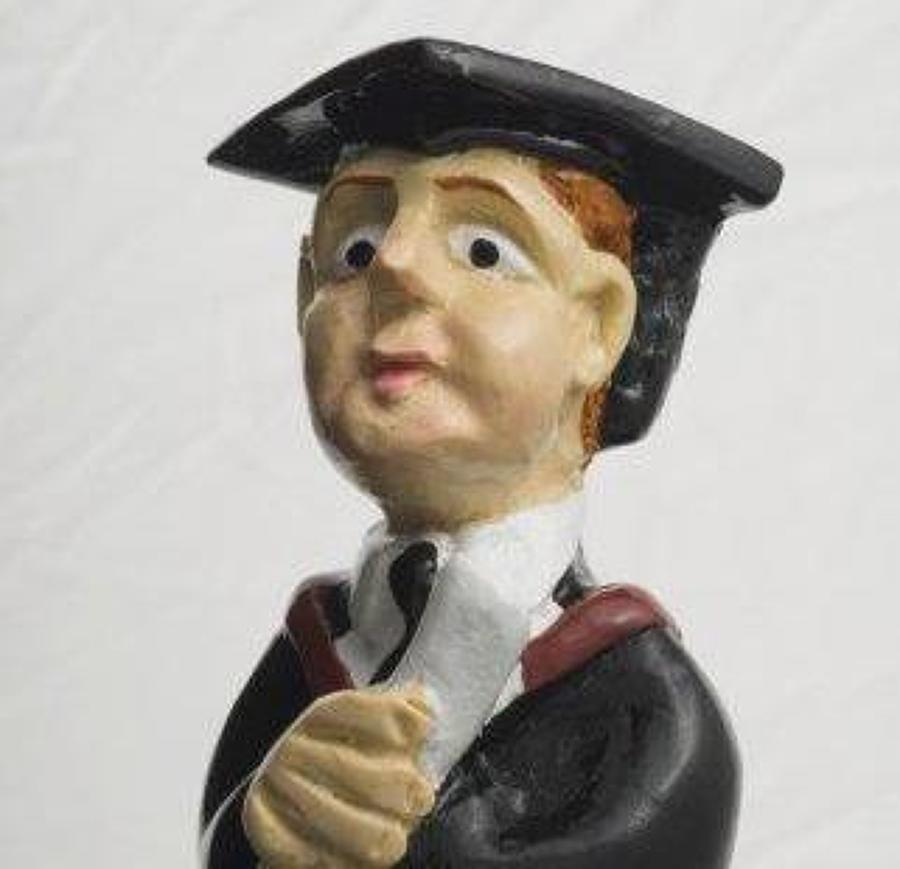 Graduate (male) bottle stopper