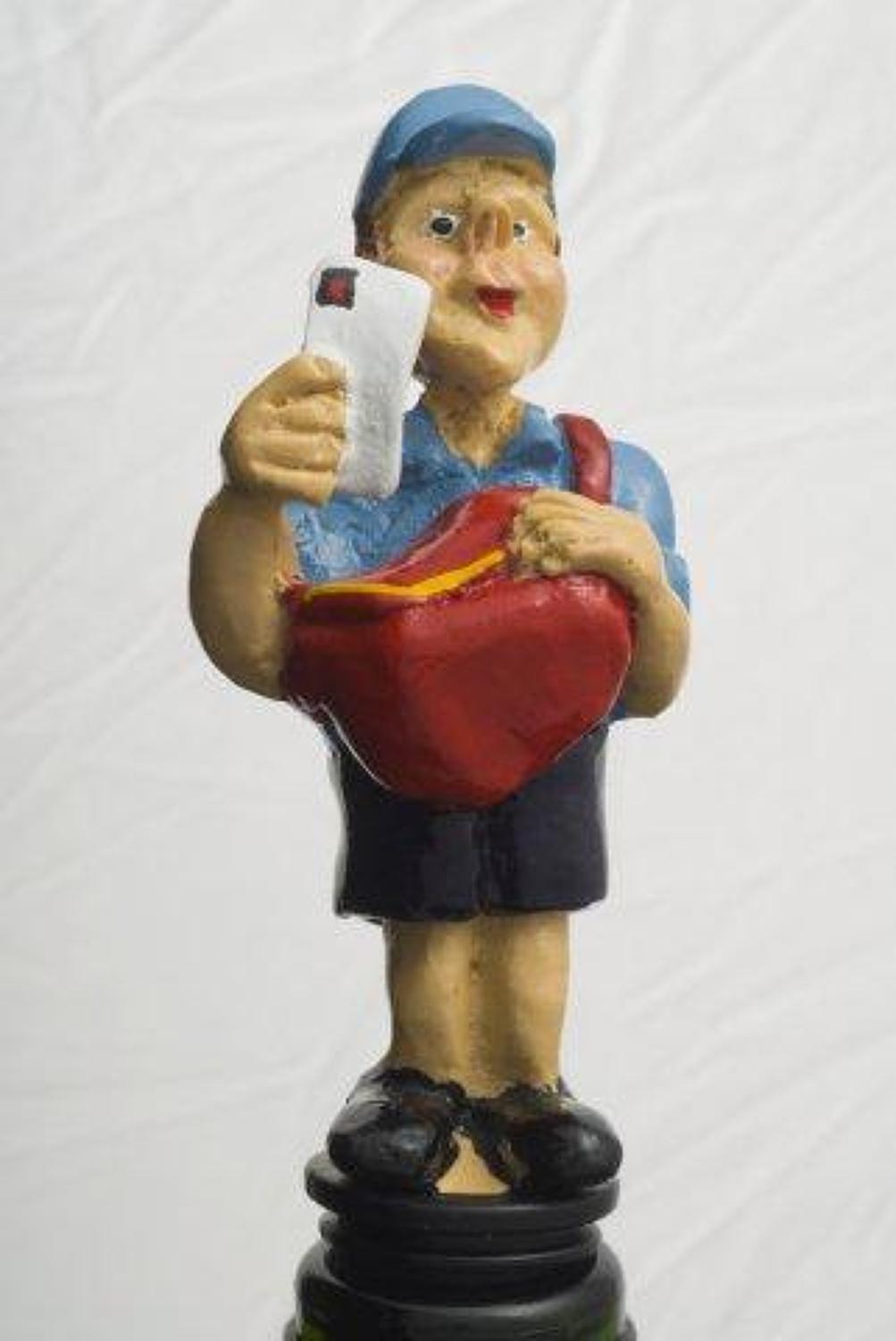 Postman bottle stopper