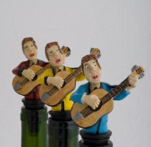 Guitarist bottle stopper