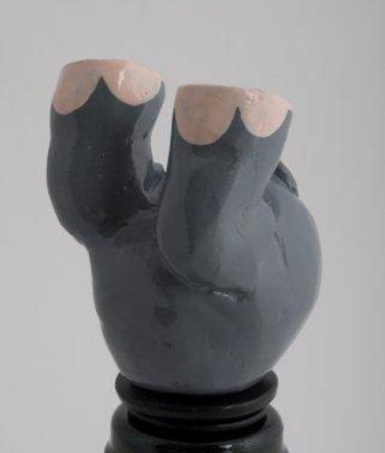 Grey elephant bottle stopper