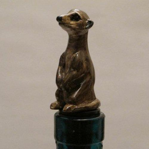 Meerkat bottle stopper