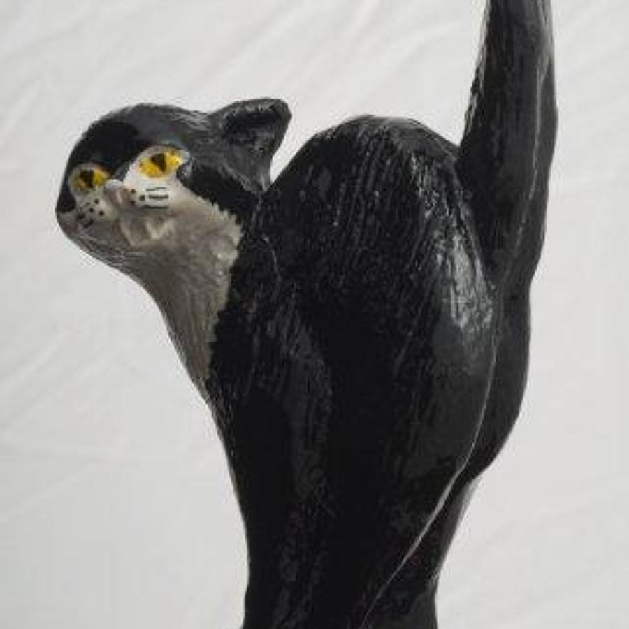 Black cat bottle stopper