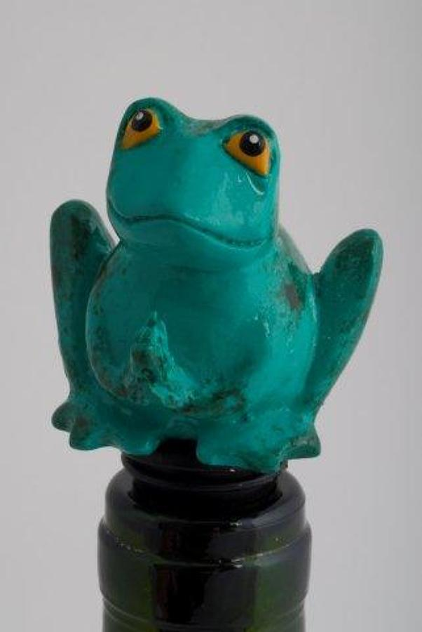 Bull Frog bottle stopper