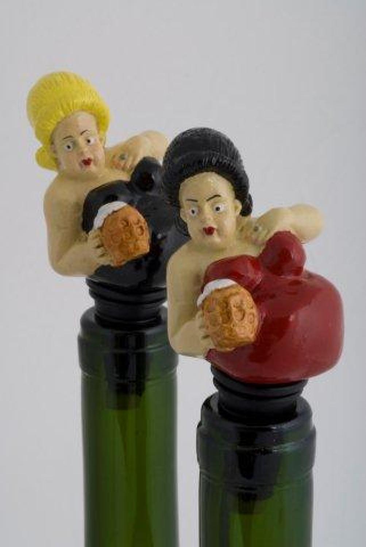 Barmaid bottle stopper
