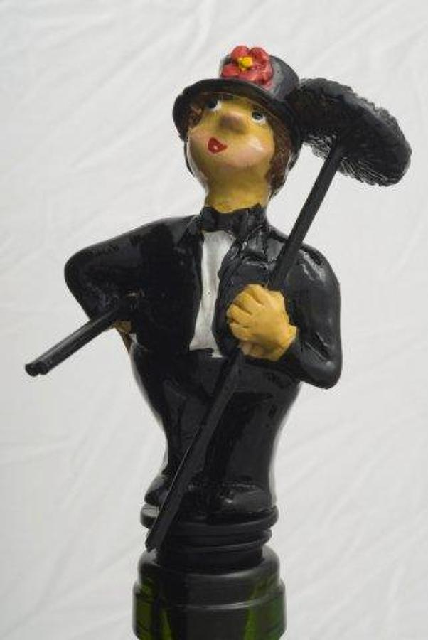 Chimney Sweep bottle stopper