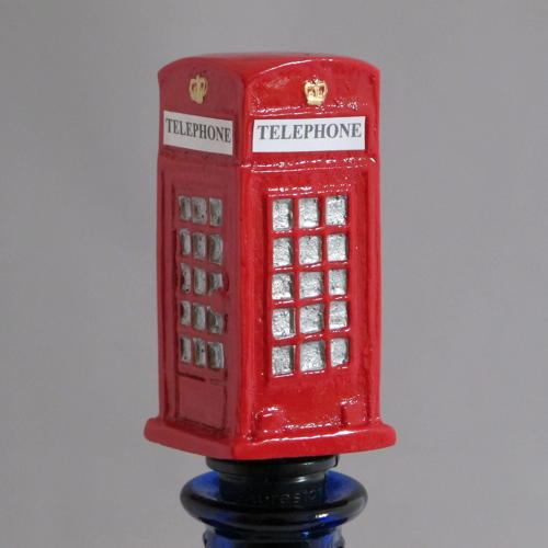 Telephone Box bottle stopper