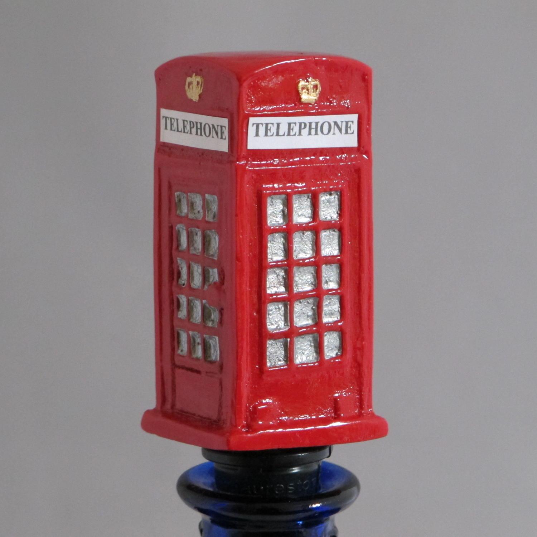Telephone Box bottle stopper
