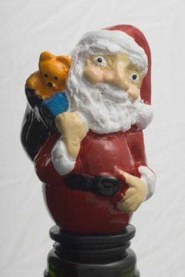Jolly Santa bottle stopper