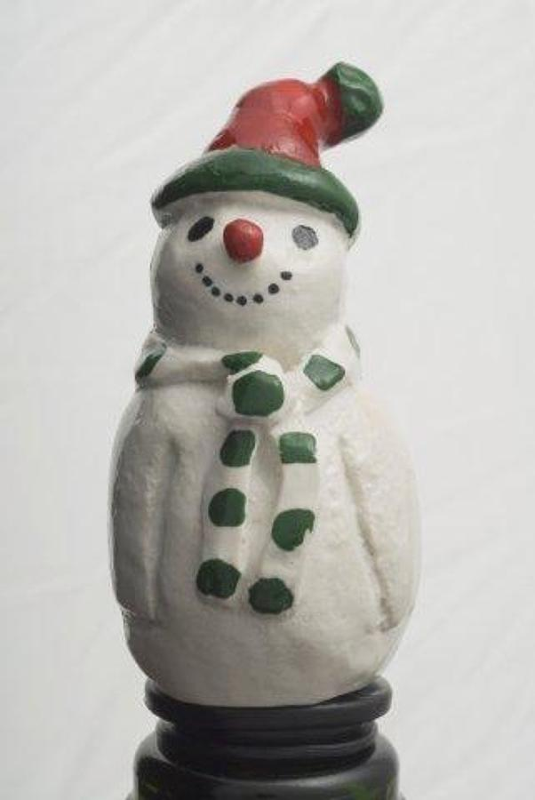 Snowman bottle stopper