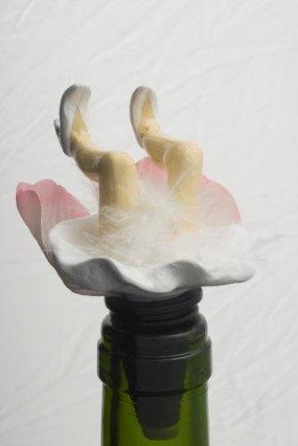 White Wobbly Leg Fairy bottle stopper