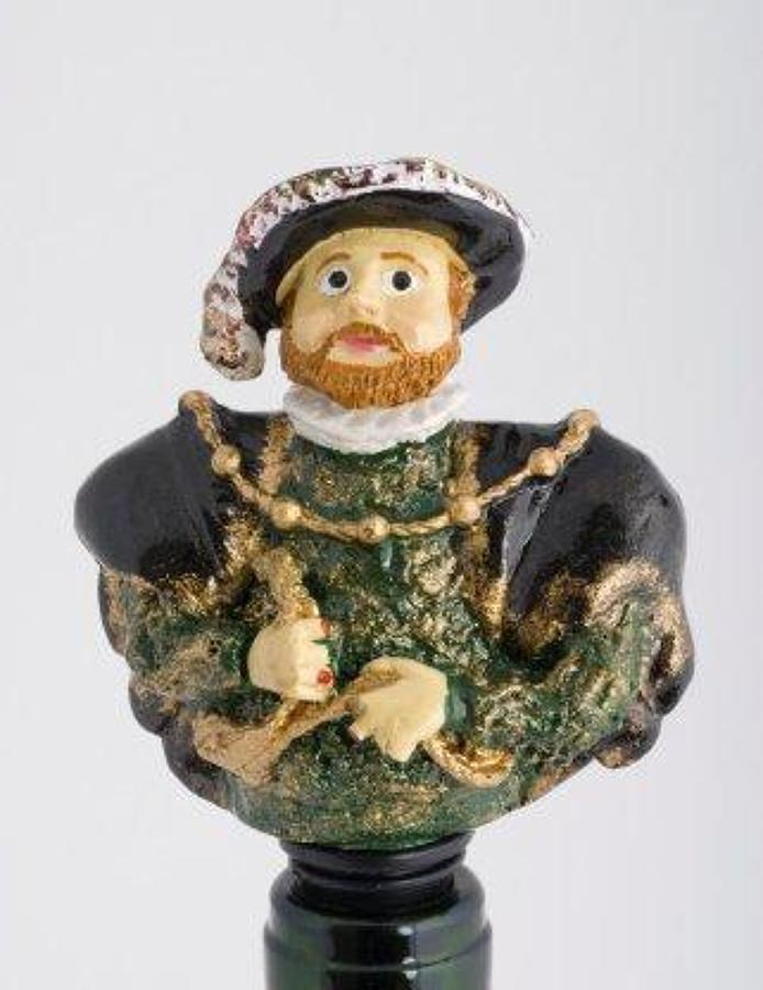 Henry VIII bottle stopper