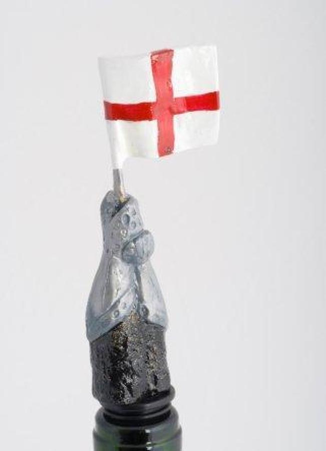 St. George Cross Flag bottle stopper