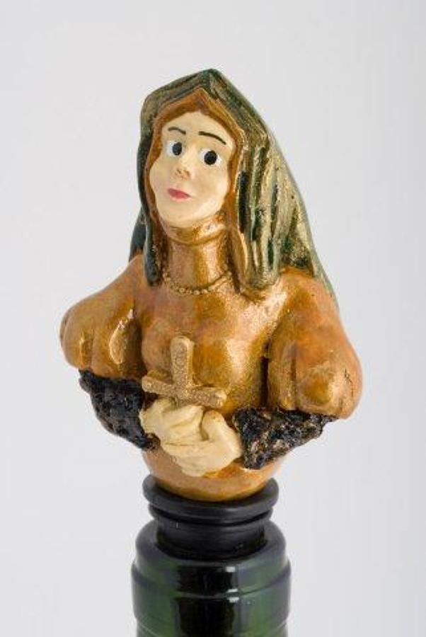 Catherine of Aragon bottle stopper