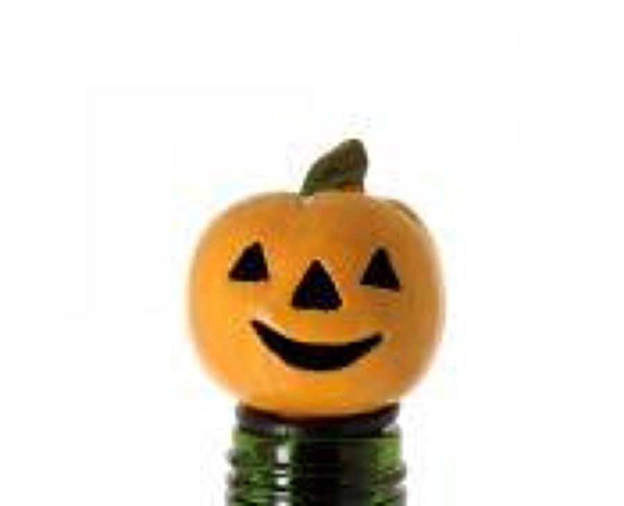 Pumpkin Lantern bottle stopper
