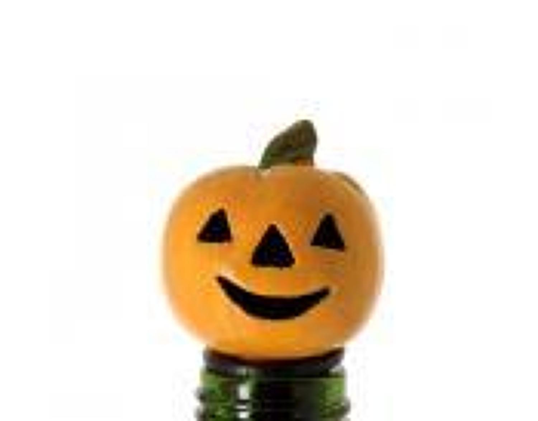 Pumpkin Lantern bottle stopper