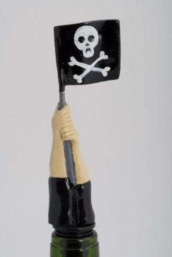 Jolly Roger Flag bottle stopper