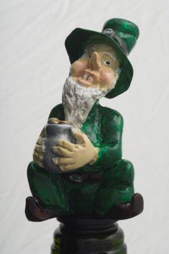 Leprechaun bottle stopper