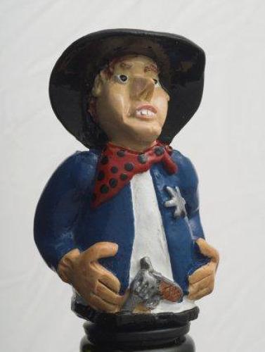 Cowboy bottle stopper