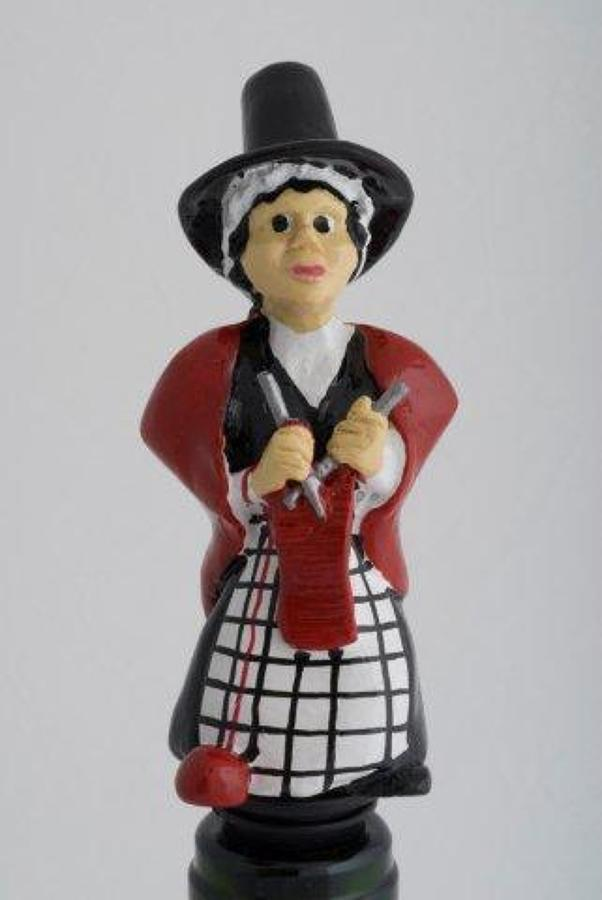 Welsh Lady bottle stopper