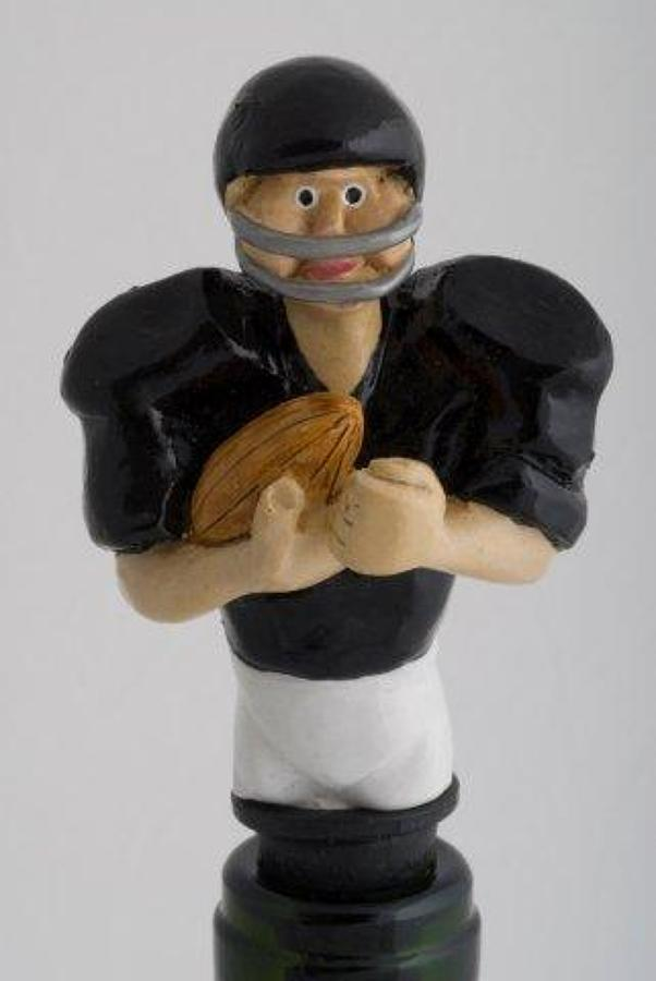 American Football bottle stopper