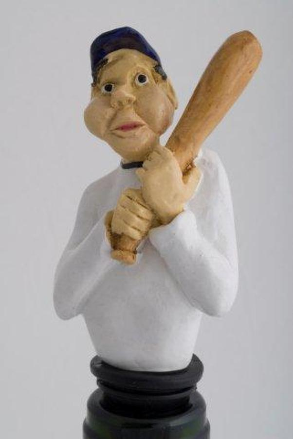 Baseball Player bottle stopper