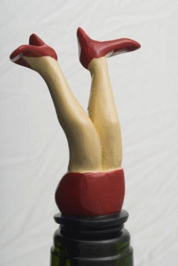 Red Dress bottle stopper