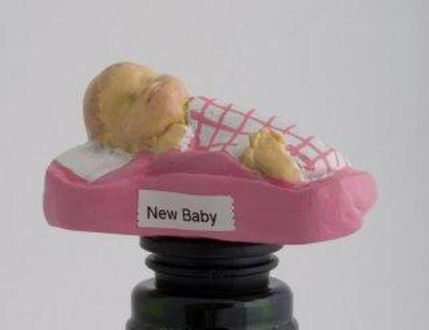 New Baby Girl bottle stopper