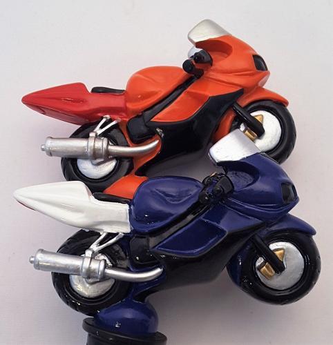 Motorbike bottle stopper